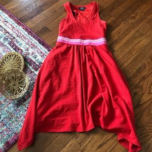 Anthropologie Maeve red dana racerback tank dress